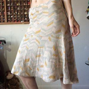 Consigned Moth Anthropologie Geometric Skirt Mello
